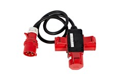 Adapter, 32 amp CEE for 3x32 amp CEE