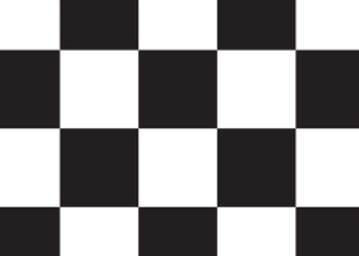 Vinyl flooring, black/white chequered