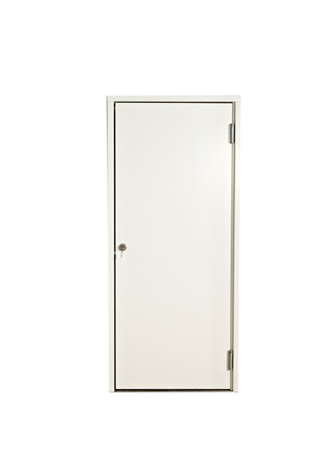 Door, side-hinged, W: 100 cm, white w/ lock