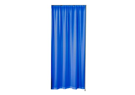 Curtain for doorway, blue