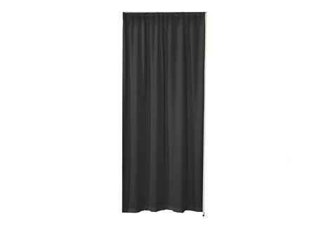 Curtain for doorway, black
