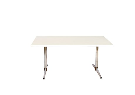Table, white, laminate, L: 115, W: 75, H: 50 cm