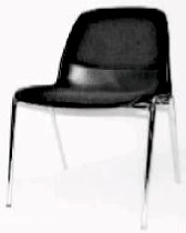 Black shell chair w/black upholstery